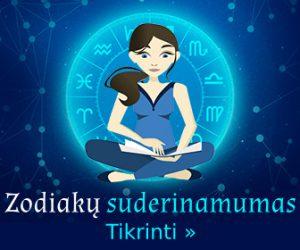 Horoskopų zodiakų suderinamumas poroje pagal žvaigždes