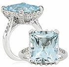 sužadėtuvių žiedas (akvamarinas)