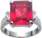 Didelis rubinas žiede