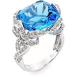 žiedas su mėlynu topazu