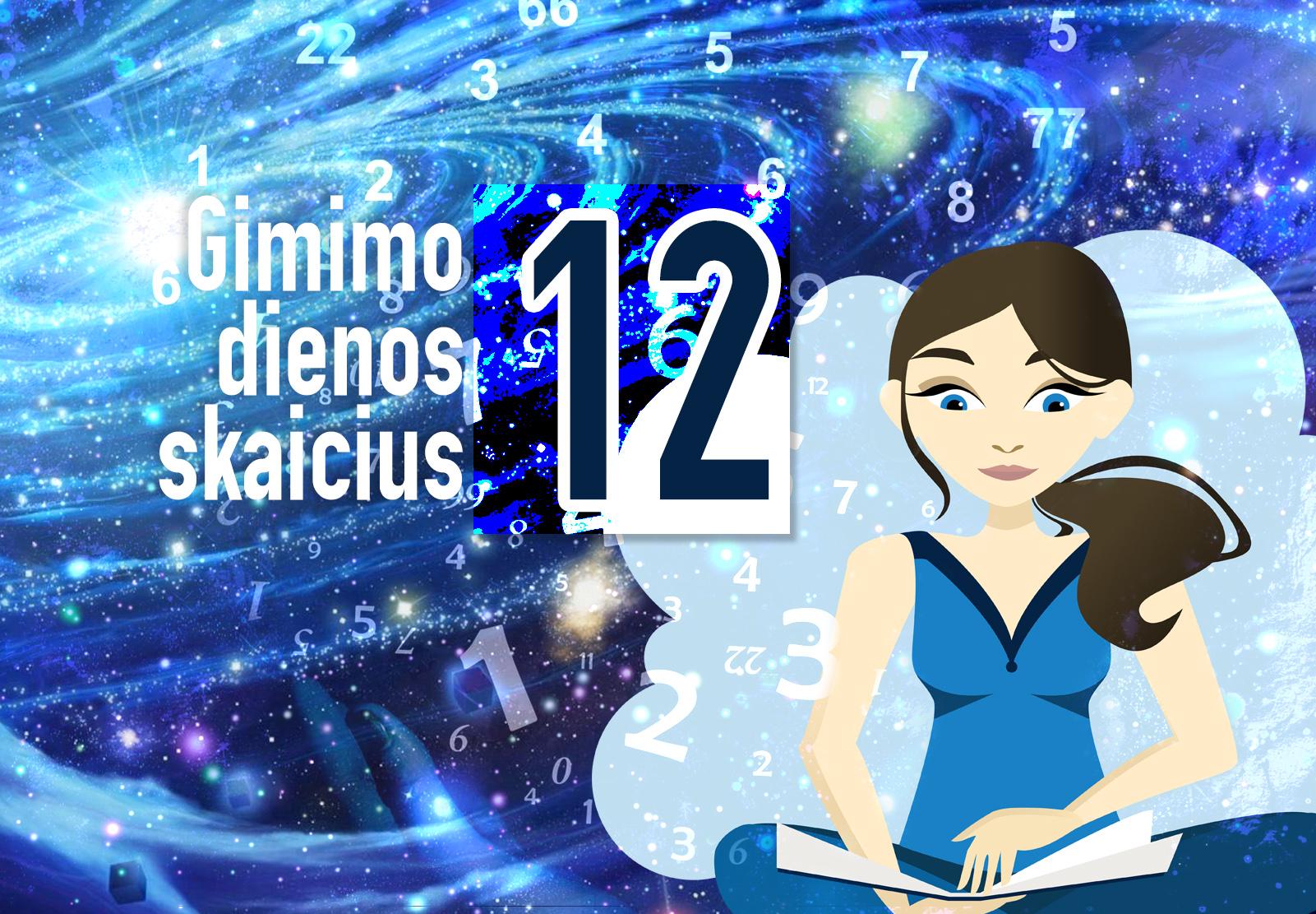 gimimo dienos skaičius 12