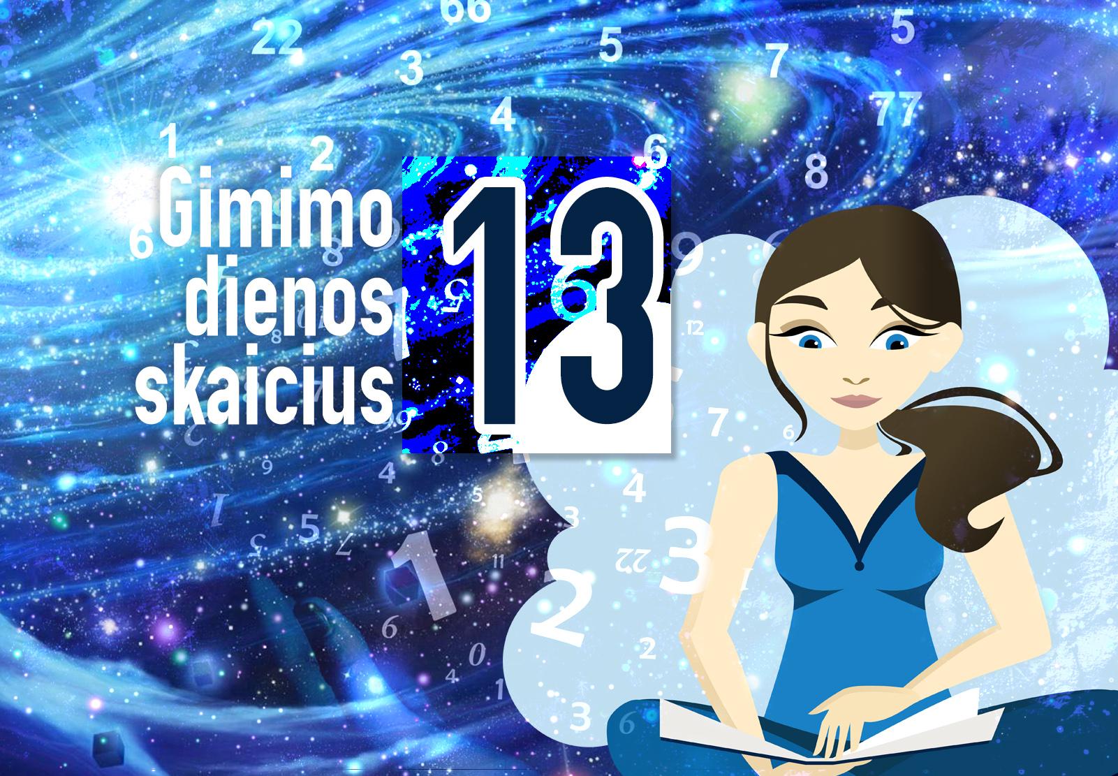 gimimo dienos skaičius 13
