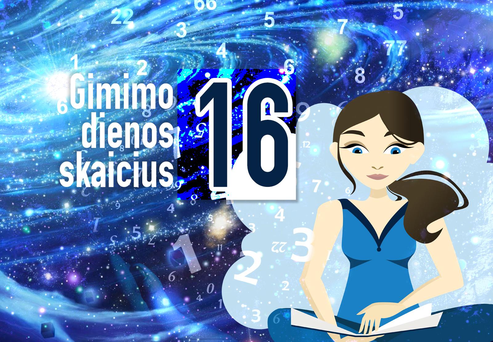 gimimo dienos skaičius 16