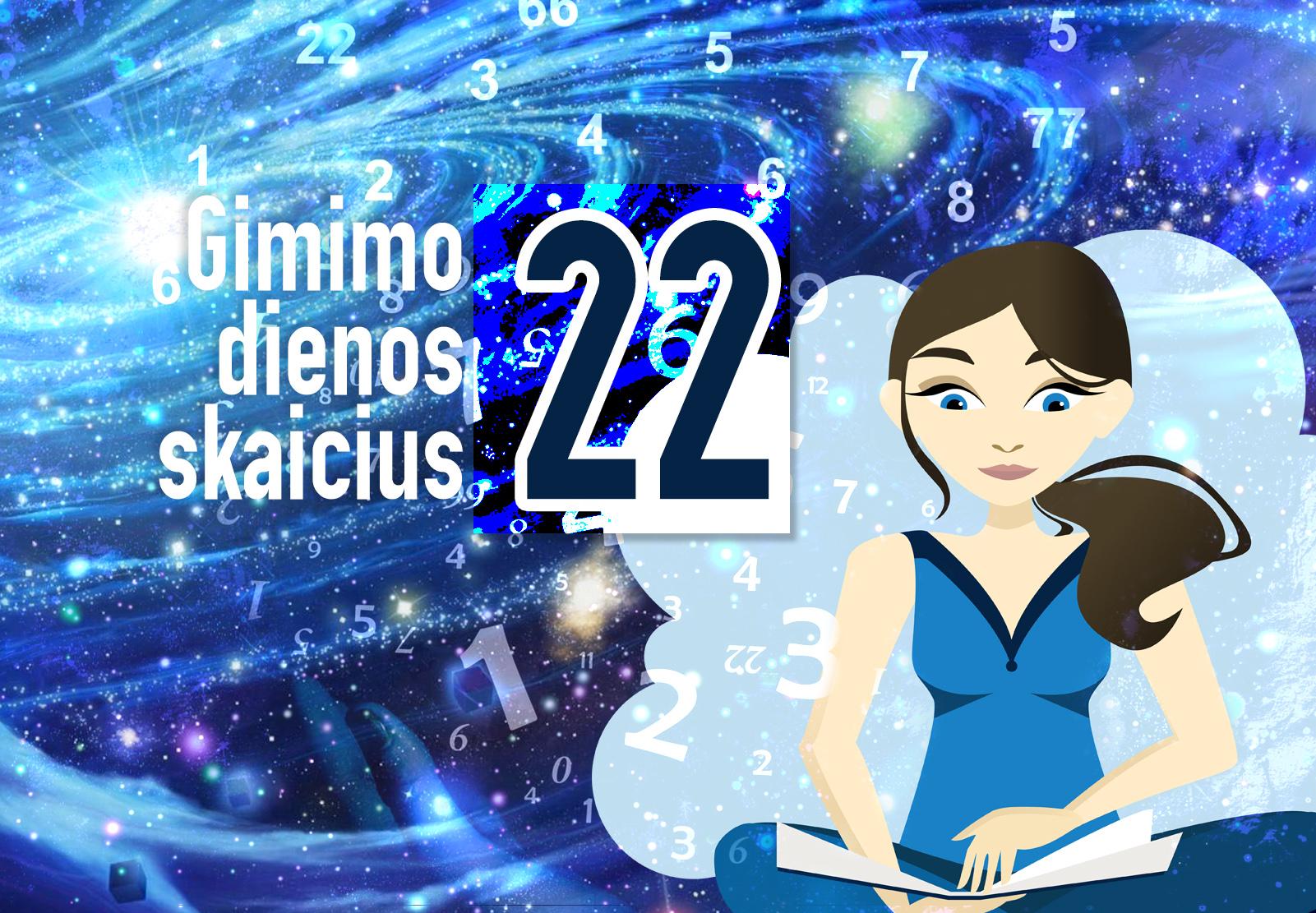 gimimo dienos skaičius 22